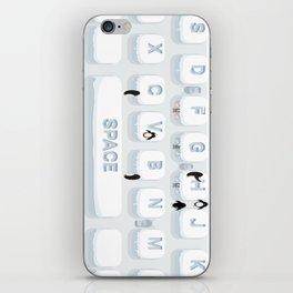 Frozen Keyboard iPhone Skin