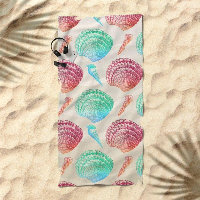 Marine Pattern 07 Beach Towel
