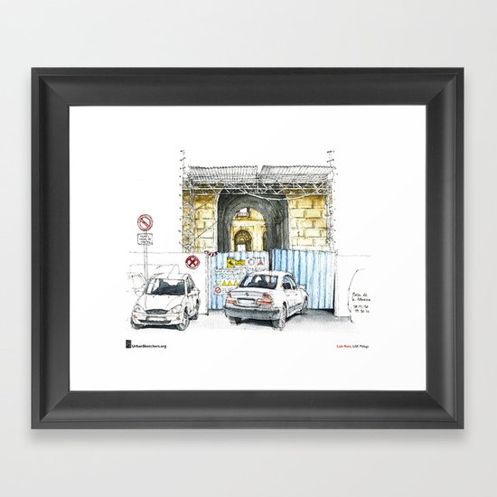 "Luis Ruiz, ""Málaga, Bad Parking"" Framed Art Print"