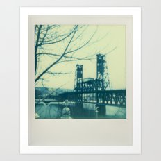 Steel Bridge - Polaroid Art Print