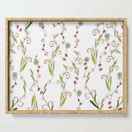 Flower vines Serving Tray
