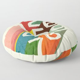 Retro Numbers Floor Pillow