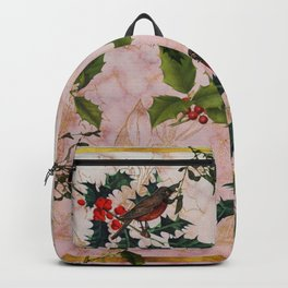 Holly and Mistletoe Backpack