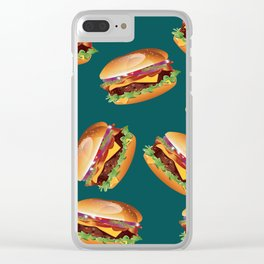 Deluxe Cheeseburger Clear iPhone Case