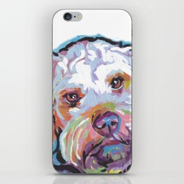 COCKAPOO Fun Dog Portrait bright colorful Pop Art Painting by LEA iPhone Skin