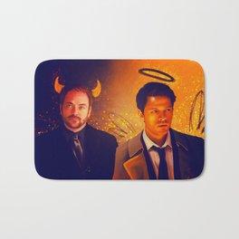 Good & Bad - Supernatural - Castiel Crowley Bath Mat