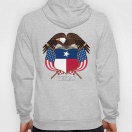 Texas flag and eagle crest - original design by BruceStanfieldArtist Hoody