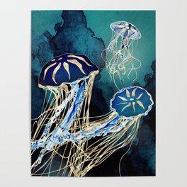 Metallic Jellyfish III Poster