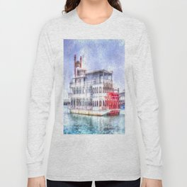 New Orleans Paddle Steamer Art Long Sleeve T-shirt
