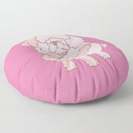 Poodle Hugs Floor Pillow