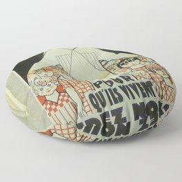 Vintage poster - Musee des Instruments de Medecine Floor Pillow