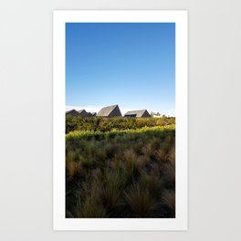 A village in the city Art Print