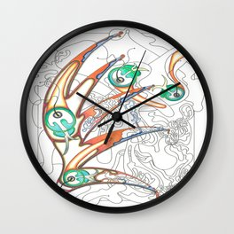 Embryonic Fly Trap Wall Clock
