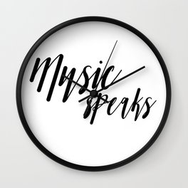 Aesthetic music speaks design Wall Clock