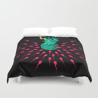 pineapple Duvet Covers featuring Pineapple by mark ashkenazi