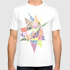 Jagged MEDIUM White Mens Fitted Tee
