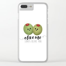 Olive Me Loves Olive You Clear iPhone Case