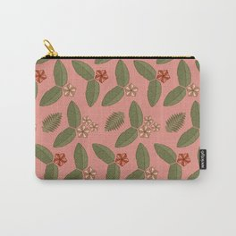 Polygn Floral ( Pink ) Carry-All Pouch