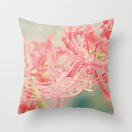Ribbons and Whiskers Throw Pillow