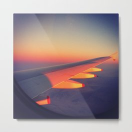 Sunset on the wing Metal Print
