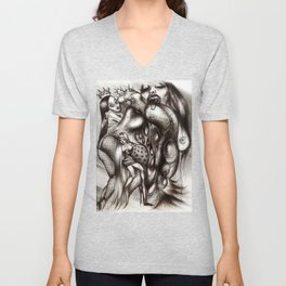 Orgy Of Courtesans Unisex V-Neck