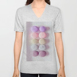 Macaroons Pink Peach Unisex V-Neck