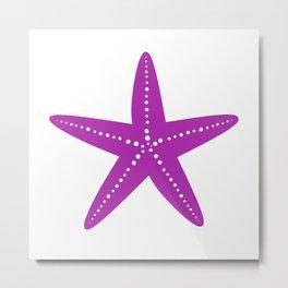 Starfish (Purple & White) Metal Print
