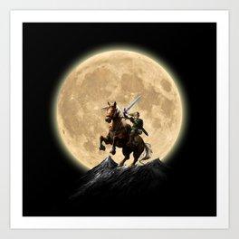 The Legend Of Zelda Full Moon Art Print