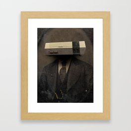 Faces of the Past: Console Framed Art Print