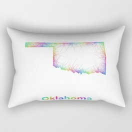 Rainbow Oklahoma map Rectangular Pillow
