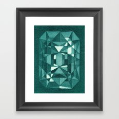 Emerald - Aquatint gemstone Framed Art Print