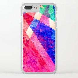 Rainbow Shards Clear iPhone Case