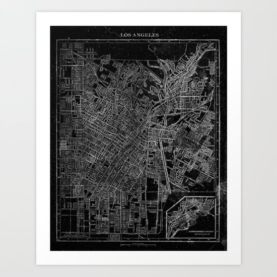 Los Angeles, California, Circa 1908. Art Print