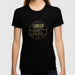 London - Vintage Map and Location T-shirt