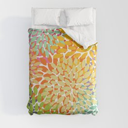 Bright Colorful Summer Florals Comforters