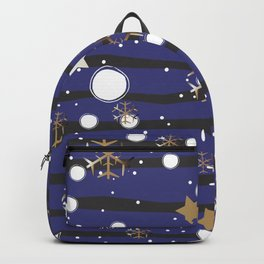 Golden Snowflake Backpack
