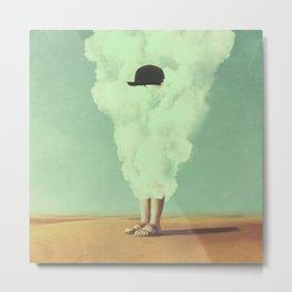 Magritte's Bowler Hat Metal Print