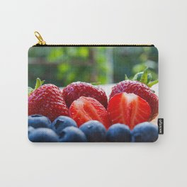 Strawberries and blueberries in outdoors Carry-All Pouch