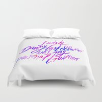danny haas Duvet Covers featuring Danny Castellano Personal Trainer by Susanne Kasielke