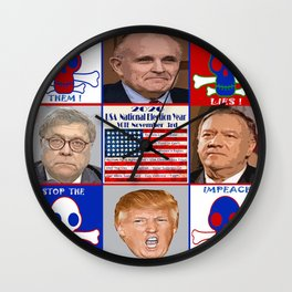 DC Radioactive Toxic Waste Wall Clock