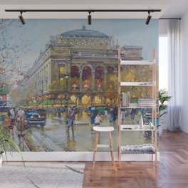 Theater du Chatelet, Paris, France by Eugene Galian Laloue Wall Mural