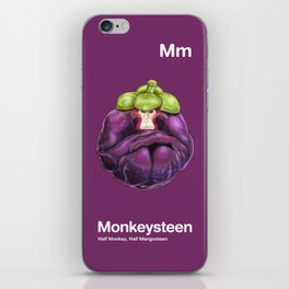 Mm - Monkeysteen // Half Monkey, Half Mangosteen iPhone Skin