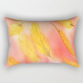 Blush Gold Skies Rectangular Pillow