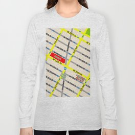 New York map design - empire state building area Long Sleeve T-shirt