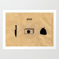 dexter Art Prints featuring DEXTER by Anthony Morell