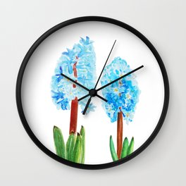 blue hyacinth Wall Clock