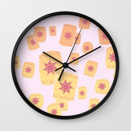 Lost Princess Lanterns Wall Clock