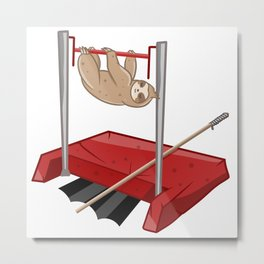 Sloth gym class Metal Print