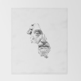 MARCUS AURELIUS ANTONINUS AUGUSTUS / black / white Throw Blanket