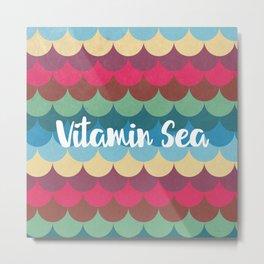 Vitamin Sea Pattern Metal Print